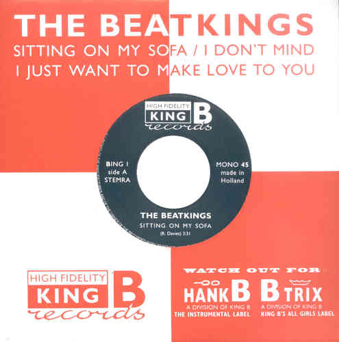 "BEATKINGS, THE - SITTING ON MY SOFA EP - 7"" PS - NEW (M)"