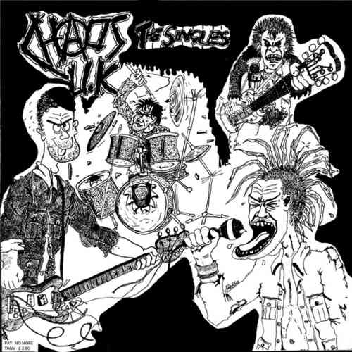CHAOS UK - Total Chaos - The Singles LP (NEW) (P)