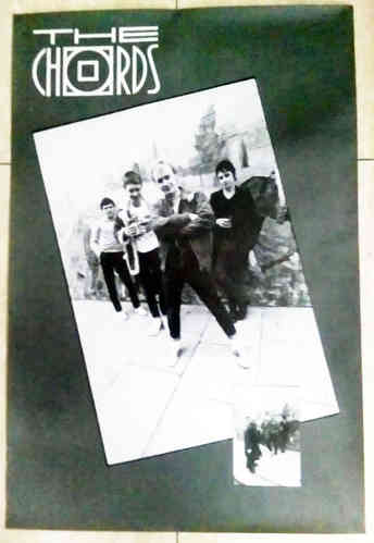 "CHORDS, THE - 20"" x 30"" Black & White Fan Club Poster from 1981 (EX)"