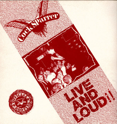 COCK SPARRER - Live and Loud  - LP (EX/EX) (P)