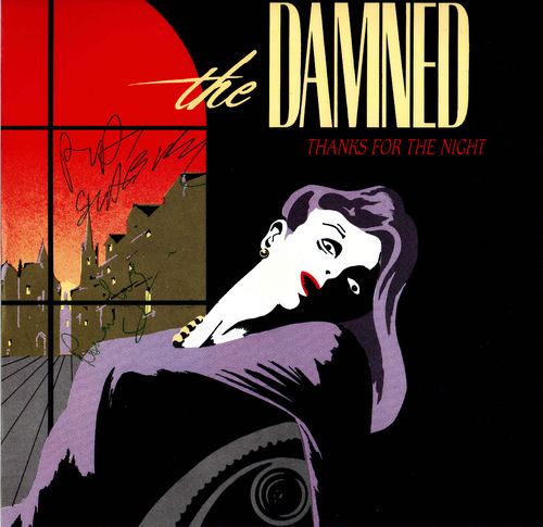 "DAMNED, THE - Thanks For The Night - 12"" (+ AUTO P/S) (EX/EX) (P)"