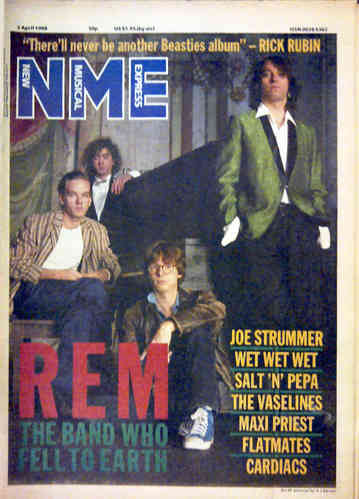 NME - 2nd April 1988 MUSIC PAPER (EX)