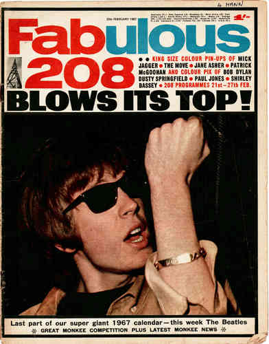 FABULOUS 208 - 25th February 1967 MUSIC PAPER (VG)