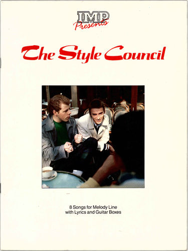 STYLE COUNCIL, THE - 8 SONGS OF MELODY LINE WITH LYRICS AND GUITAR BOXES - BOOK (EX)