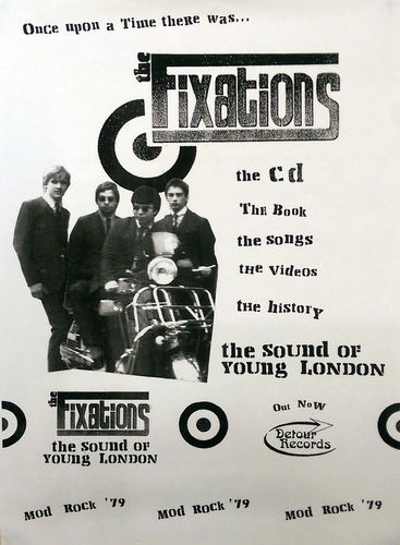 "FIXATIONS, THE - 30cm x 42cm ""The Sound Of Young London"" PROMO POSTER (EX)"