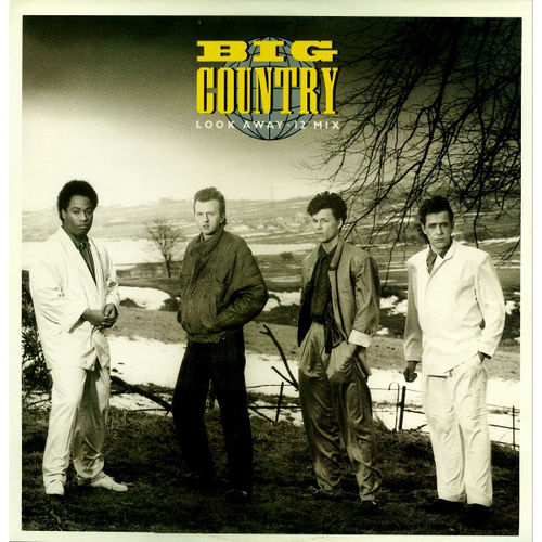 "BIG COUNTRY - Look Away 12"" + P/S (EX/EX) (P)"