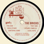 "BRICKS, THE - Rock Steady EP 7"" (+ INSERT) (-/EX-) (P)"