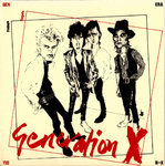 "GENERATION X - Fridays Angels (RED VINYL) E.P  7"" + P/S (EX/EX) (P)"