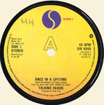 "TALKING HEADS - Once In A Lifetime 7"" (-/EX) (P)"