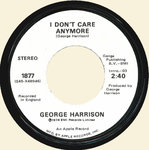 "HARRISON, GEORGE (THE BEATLES) - I Don't Care Anymore 7"" (-/EX) (M)"