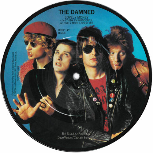 "DAMNED, THE - Lovely Money (PICTURE DISC) 7"" (-/EX) (P)"