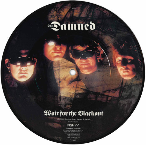 "DAMNED, THE - Wait For The Blackout (PIC DISC) 7"" (-/EX) (P)"