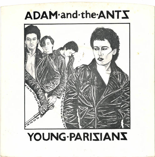 "ADAM AND THE ANTS - Young Parisians 7"" + P/S (EX/EX) (P)"