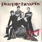 "PURPLE HEARTS, THE - Jimmy 7"" + P/S (EX/EX) (M)"