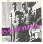 "PURPLE HEARTS, THE - Millions Like Us (BLUE LABEL) 7"" + P/S (VG+/VG+) (M)"