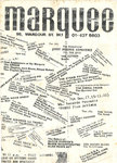 MARQUEE - December 1977 Gig Listings Pamphlet (VG) (D1)