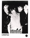 "LONGPIGS - 10"" x 8"" Black & White Promo Photo (EX) (D1)"