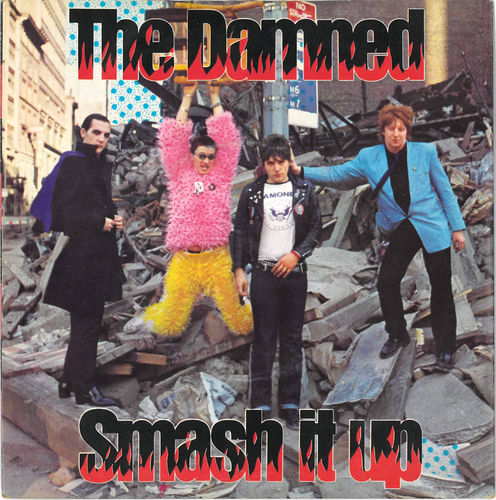 "DAMNED, THE - Smash It Up 7"" + P/S (VG+/EX) (P)"