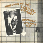 "COUNTY, WAYNE & THE ELECTRIC CHAIRS - Blatantly Offence (GOLD VINYL) EP 7"" + P/S (VG/EX) (P)"