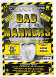 BAD MANNERS - A5 Autographed Tour Flyer 1995 (EX) (D1)