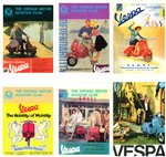 VESPA POST CARDS - A Set Of Six Vintage Vespa shop posters POST CARDS (EX) (D1)