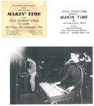 MAKIN' TIME - Press Sheet / Promo Photo / Tickets (EX) (D1)
