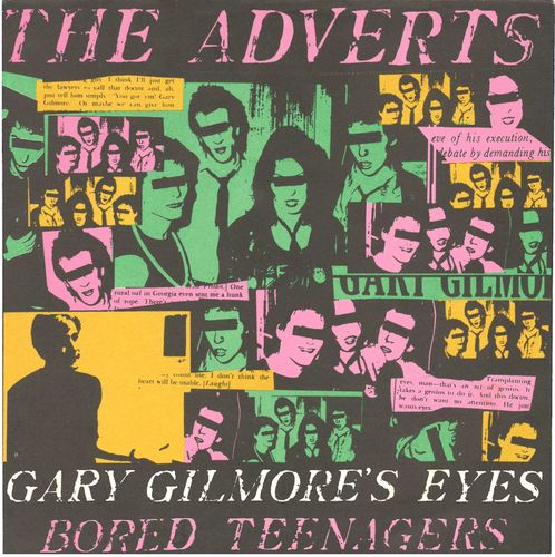 "ADVERTS, THE - Gary Gilmore's Eyes 7"" + P/S (EX/EX) (P)"