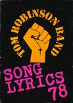 TOM ROBINSON BAND - Song Lyrics 78 BOOK (VG) (D1)