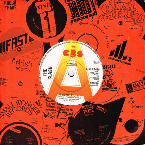 "CLASH, THE - Hitsville UK (DEMO COPY) 7"" + P/S (EX/EX) (P)"