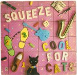 "SQUEEZE - Cool For Cats (PINK VINYL) - 7"" + P/S (VG/EX-) (P)"
