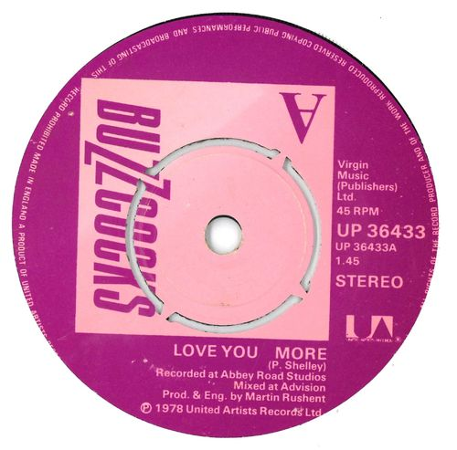 "BUZZCOCKS, THE - Love You More - 7"" (-/EX) (P)"