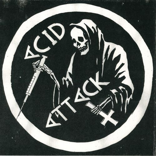 "ACID ATTACK - Suburbias Dream (BLUE VINYL) 7"" + P/S (NEW) (P)"