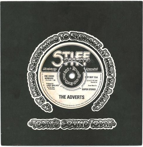"ADVERTS, THE - One Chord Wonders 7"" (+ COMPANY SLEEVE) (EX/EX-) (P)"