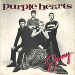 "PURPLE HEARTS, THE - Jimmy - 7"" + P/S (VG/VG+) (M)"