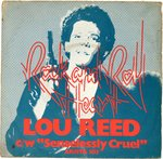"REED, LOU - Rock And Roll Heart 7"" + P/S (VG/VG+) (P)"