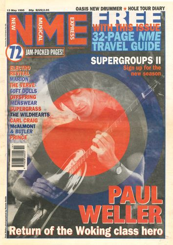 NME - 13th May 1995 MUSIC PAPER (EX)