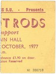 EDDIE & THE HOT RODS - Gig Ticket From October 1977 (EX) (D1)