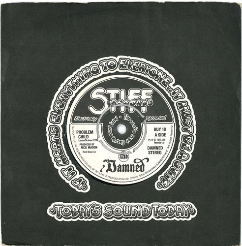 "DAMNED, THE - Problem Child 7"" (+ COMPANY SLEEVE) (VG+/EX-) (P)"
