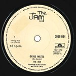 "JAM, THE - David Watts (1st PRESSING) - 7"" (-/VG-) (M)"