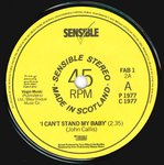 "REZILLOS, THE - I Can't Stand My Baby 7"" (-/EX) (P)"