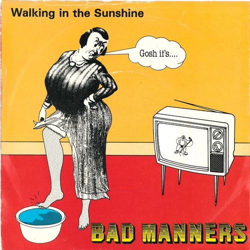 "BAD MANNERS - Walking In The Sunshine - 7"" + P/S (VG+/VG+) (SKA)"
