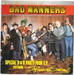 "BAD MANNERS - Special R'n'B Party Four E.P - 7"" + P/S (VG+/VG) (SKA)"