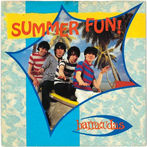 "BARRACUDAS, THE - Summer Fun (+ STICKERS) - 7"" + P/S (EX/VG+) (M)"