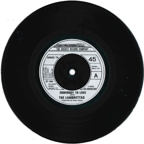 "LAMBRETTAS, THE - Somebody To Love - 7"" (-/POOR) (M)"
