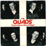 "QUADS, THE - There's Never Been A Night - 7"" + P/S (VG/VG+) (M)"