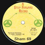 "SHAM 69 -  I Don't Wanna EP - 7"" (-/EX) (P)"