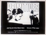 "PRIMITIVES, THE - Live At ""The Hibernian"" 17/12/1987 POSTER (EX)"