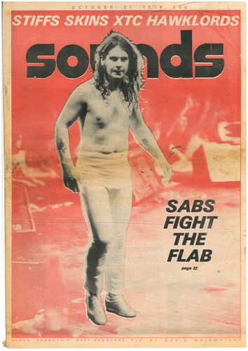 SOUNDS - 21st October 1978 MUSIC PAPER (VG)