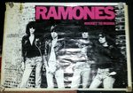 "RAMONES, THE - 25"" x 35"" ""Rocket To Russia"" POSTER (VG)"