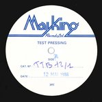 "PETER & THE TEST TUBE BABIES - Keys To The City (WHITE LABEL TEST PRESSING) EP 12"" (-/EX) (P)"